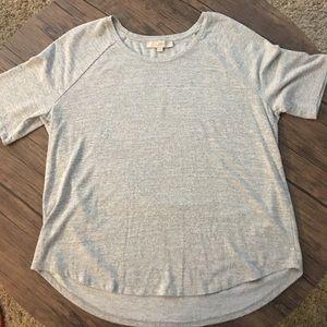 Heather grey tunic top